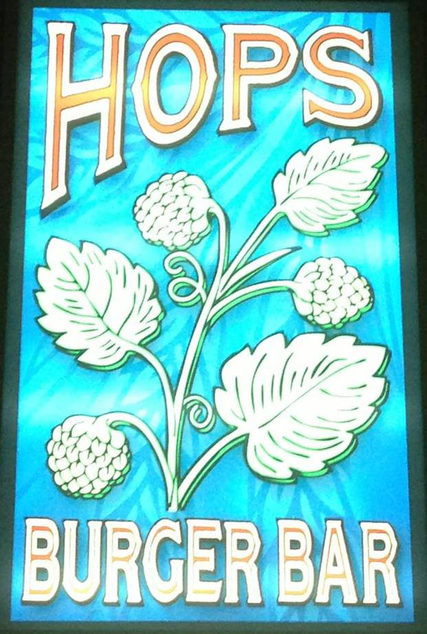 HOPS Burger Bar, The Artist Formerly Known As Spring Garden Pizza.